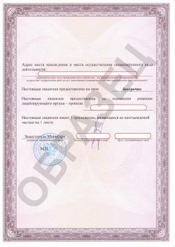 Образец лицензии Минкультуры
