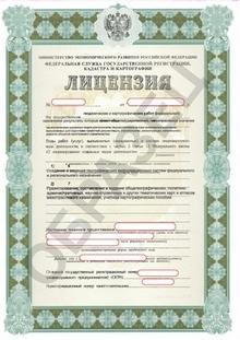 Образец лицензии на геодезическую и картографическую деятельность
