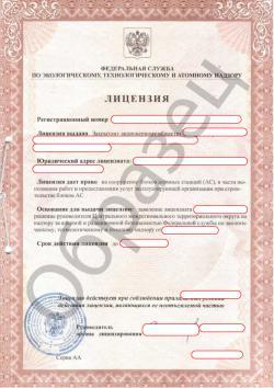 Образец Атомной лицензии