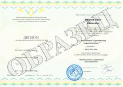 Образец диплома о профессиональной переподготовке АНО ДПО «СУЦ «Основа»